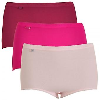 Sloggi Women Basic H 3 Pack Maxi Brief, Pink, Size 12