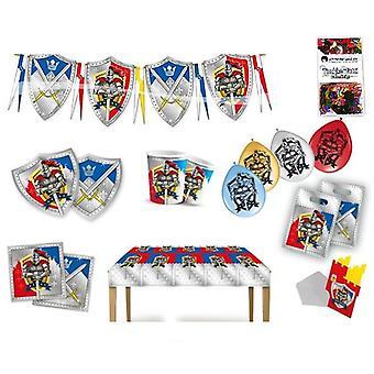 Ridder party vak 63 - teilig verjaardag versiering Knight partij partij pakket