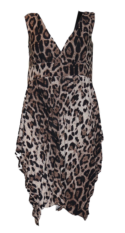 Waooh - Fashion - kjole ubalansert Leopard 'Leandra' skrive ut