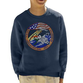 NASA STS 57 Endeavour Mission Badge Distressed Kid's Sweatshirt