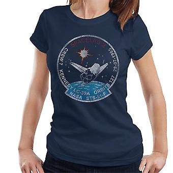 NASA STS 51 F Challenger Mission Badge Distressed Women's T-Shirt