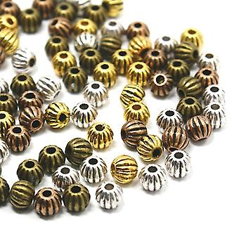 Packet 20 x Mixed Tibetan 7mm Round Spacer Beads HA15140