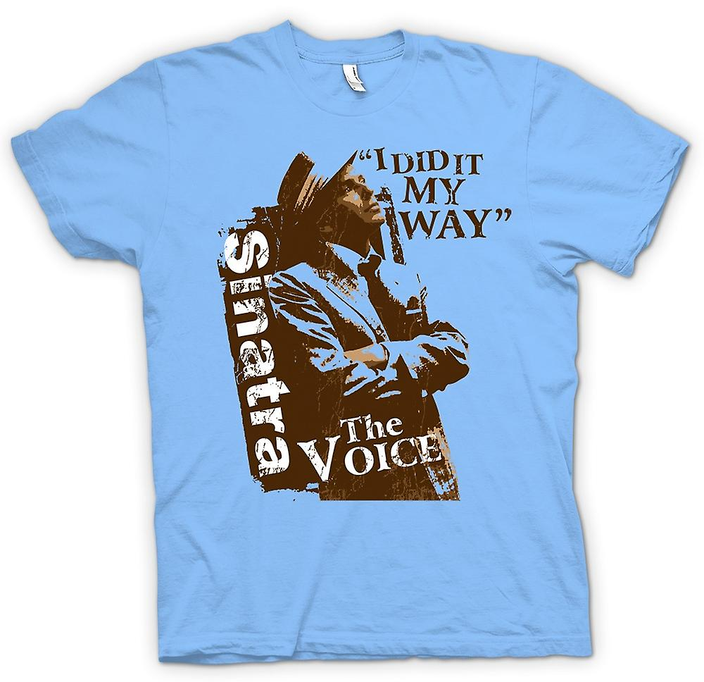 Hommes T-shirt - Frank Sinatra My Way - The Voice