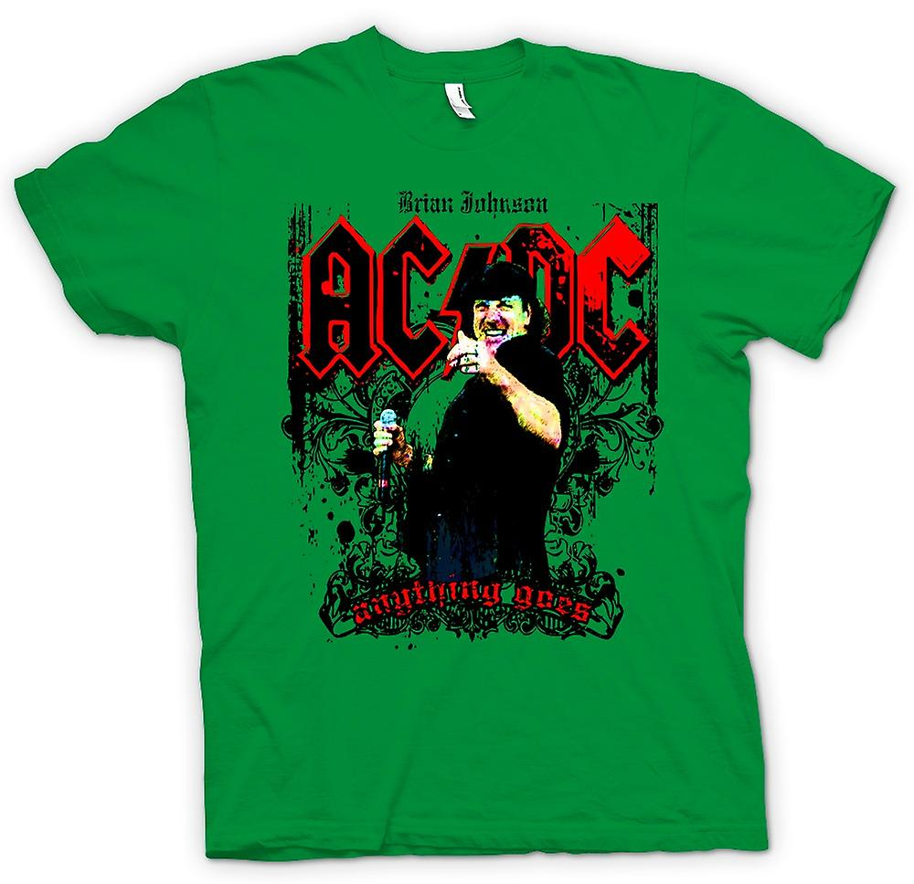 Mens T-shirt - AC/DC - Brian Johnson