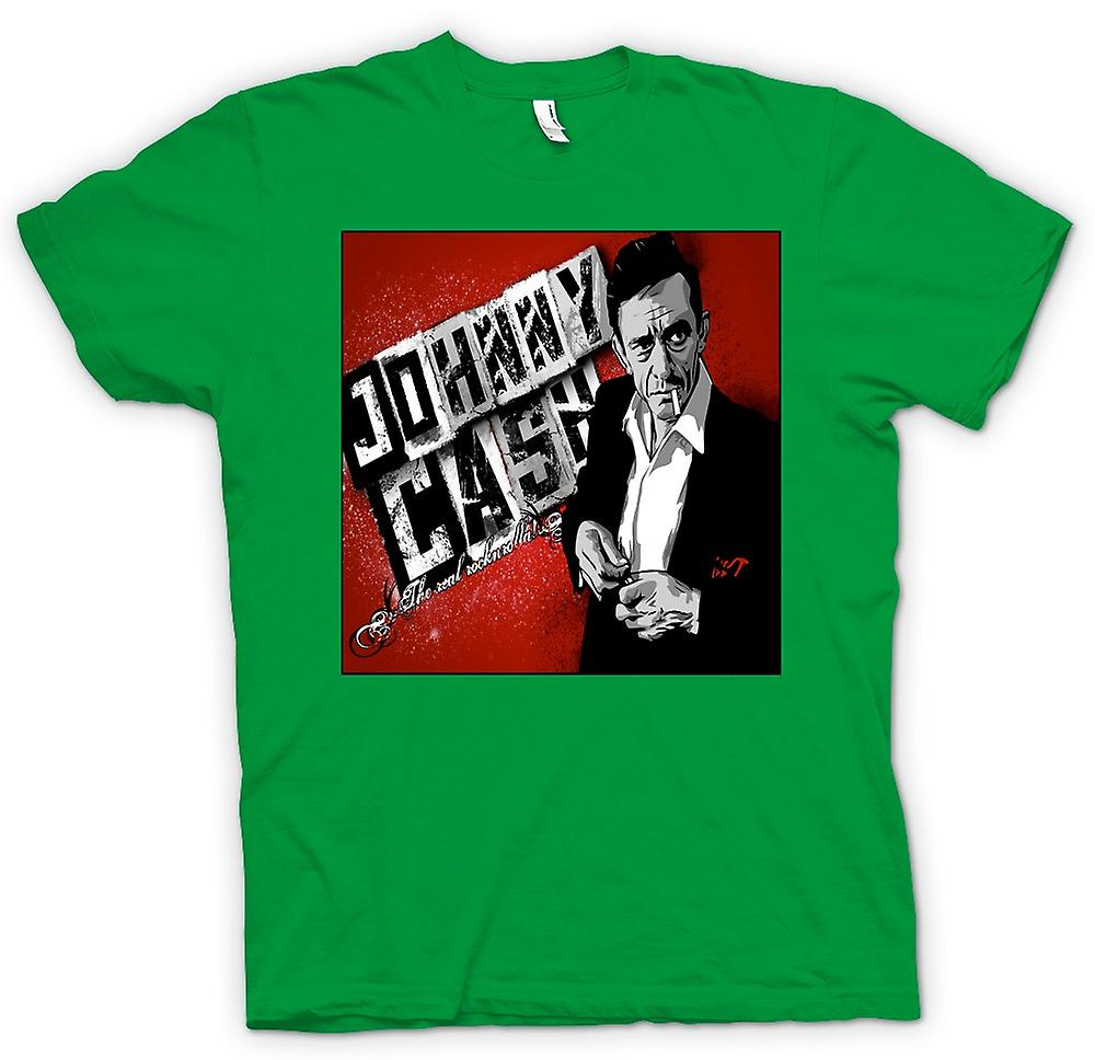Mens t-skjorte - Johnny Cash - ekte Rock n Roll