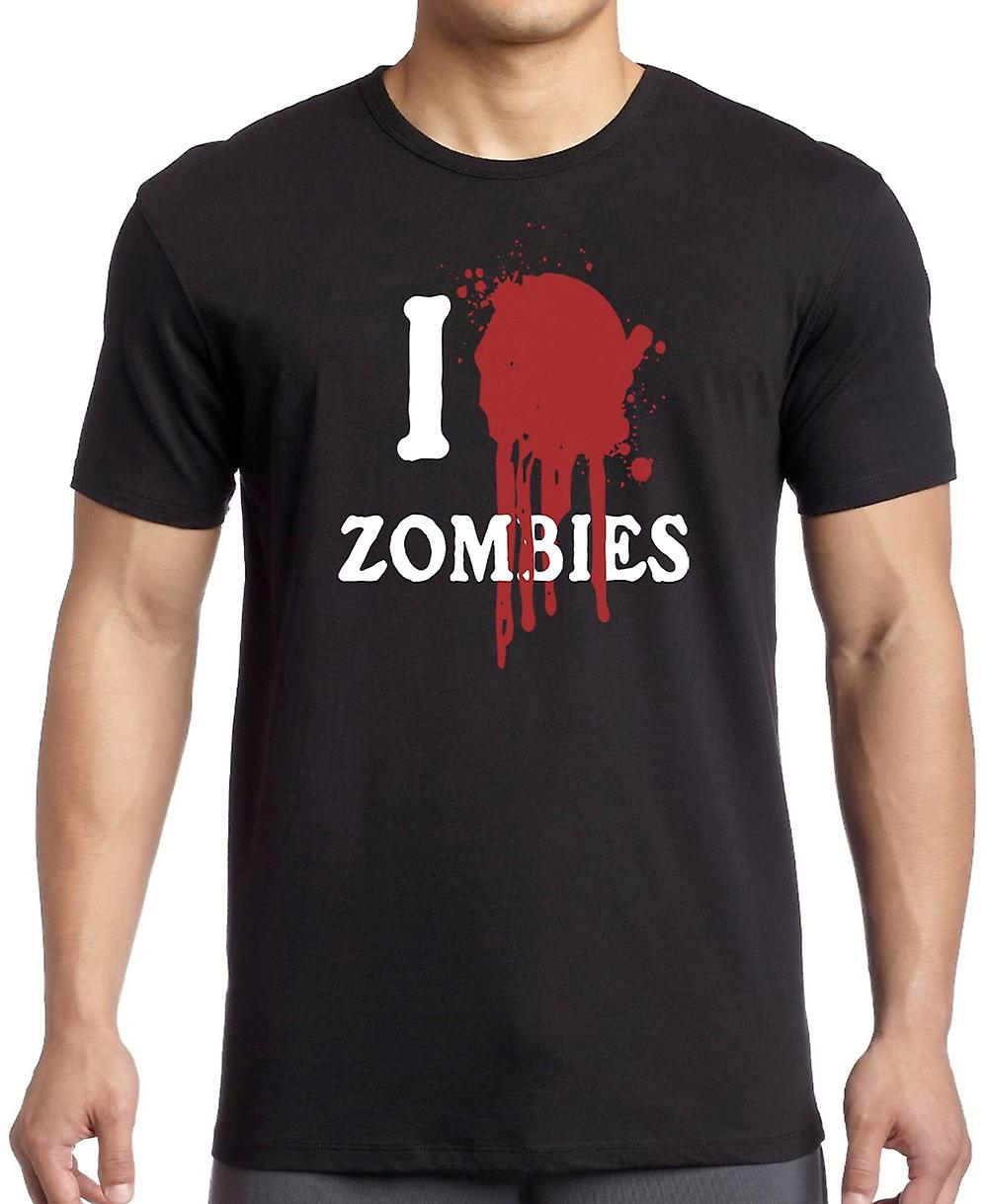 I Love (Heart) Zombies - Funny T Shirt