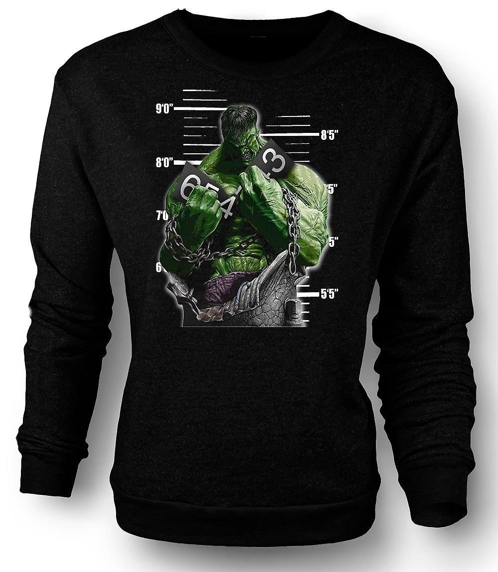 Mens Sweatshirt The Hulk - Cartoon - Chains