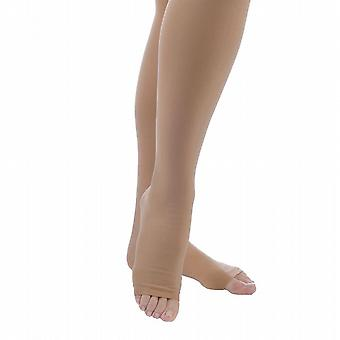 Pebble UK Opaque Microfibre Toeless Compression Thigh Highs [Style P265] Sand  XL