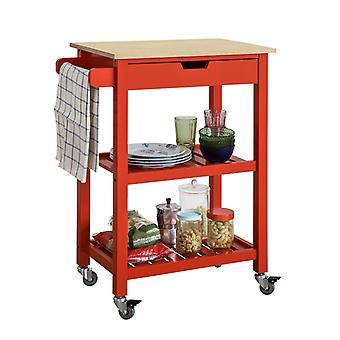 تخزين المطبخ سوبوي تخدم عربة ترولي مع الجرف & درج FKW66-R
