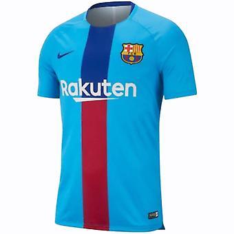 2018-2019 Barcelona Nike Pre-Match Dry Training Shirt (Equator Blue)