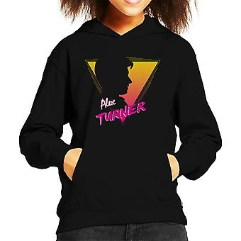 Alex Turner 80s Style Kid's Hooded Sweatshirt