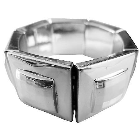 Elegant Silver Metal Square Beads Bracelets & Jewelry Funky Bracelet