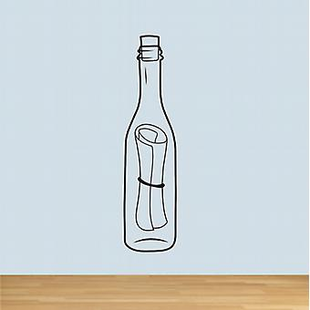 Message in a bottle wall decal