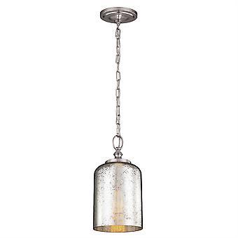 Hounslow Mini Ciondolo acciaio - satinato Elstead illuminazione