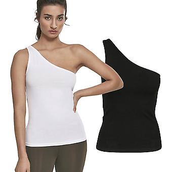Urban classics ladies - asymmetric stretch tank top