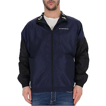 Givenchy Blue Nylon Outerwear Jacket