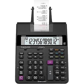 Casio HR-200 RCE Calculator with built-in printer Black Display (digits): 12 battery-powered, mains-powered (optional) (W x H x D) 195 x 65 x 313 mm