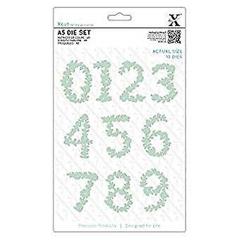 Xcut Dies (10pcs) - Floral Numbers (XCU 503060)