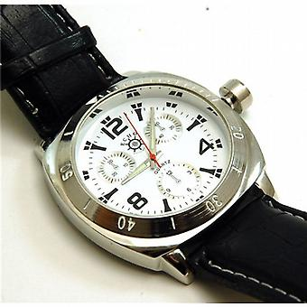 Echo Gents Chronograph Effect Leather Look Watch