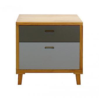 Rebecca möbler Dresser säng låda modern 2 lådor trä grå Brown