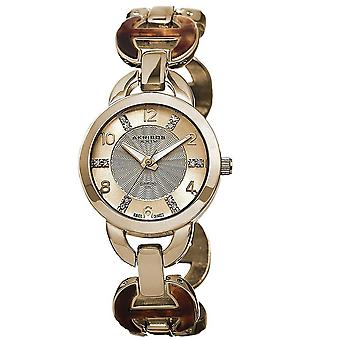Akribos XXIV Women's Diamond Accent Swiss Quartz Watch AK699YG