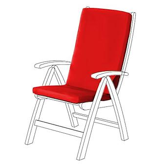 Gardenista® Red Water Resistant Highback Seat Pad for Garden Chair, Pack of 2
