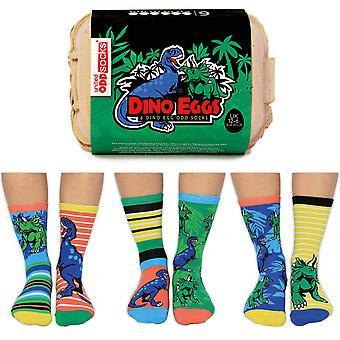 United Oddsocks Dino Eggs Socks Gift Set For Boy's