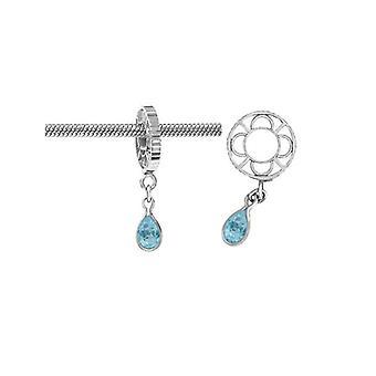 Storywheels Silver With Swiss Blue Topaz Dangle Charm S012SW