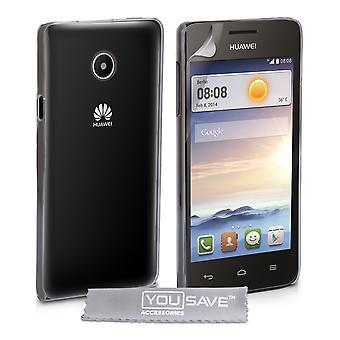 YouSave Accessories Huawei Ascend Y330 Hard Case Crystal Clear