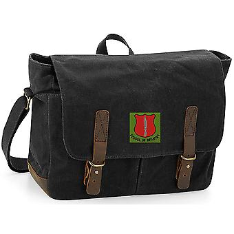 School Of Infantry - Licensed British Army Embroidered Waxed Canvas Messenger Bag
