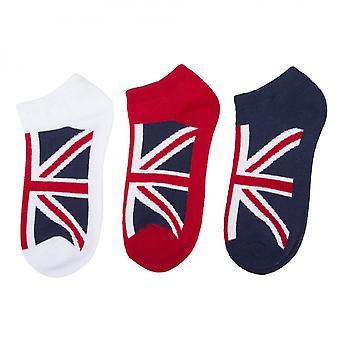 Union Jack Wear Ladies 3pk Union Chaussettes Jack Traniner