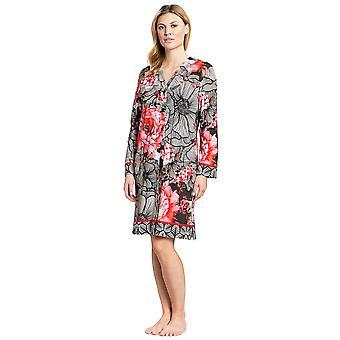 Feraud 3191010-10005 Women's Couture Black Multicolour Cotton Night Gown Nightdress