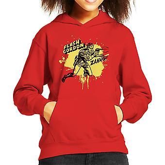 Flash Gordon Ray Gun Zanng Kid's Kapuzen Sweatshirt
