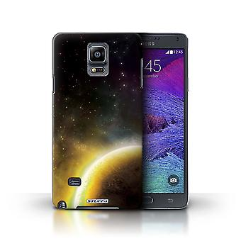 STUFF4 Phone Case / Cover for Samsung Galaxy Note 4 / Yellow Planet Design / Space/Cosmos Collection