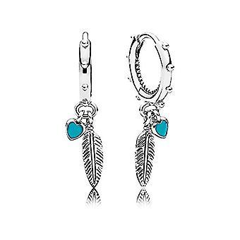 Pandora Silver Women's Fabric Earrings - 297205EN168