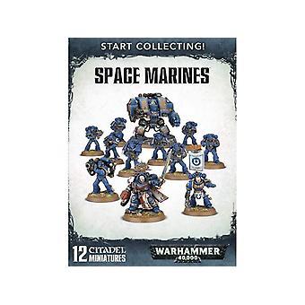 Warhammer 40.000 space Marines beginnen met het verzamelen