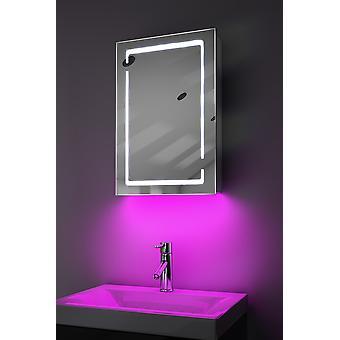 Demist Cabinet With LED Under Lighting, Sensor & Internal Shaver k350