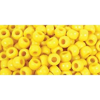 Poney de baril perles 9Mmx6mm 175 Pkg jaune Bd239 F