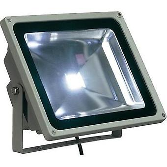 LED outdoor floodlight 50 W Neutral white SLV 231121 Silver-grey
