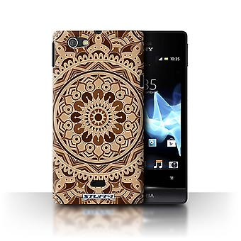 STUFF4 Case/Cover for Sony Xperia Miro/ST23I/Dream/Sepia/Mandala Art