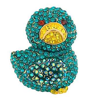 Butler & Wilson Blue Chick Brooch
