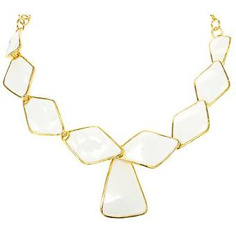Gota de rombo blanco collar de Kenneth Jay Lane