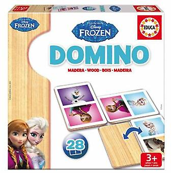 Educa Domino Frozen Wood (Speelgoed , Bordspellen , Strategie)