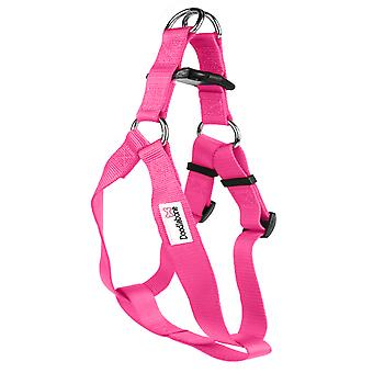 Doodlebone Bold Nylon Harness Pink Large 25mm X50-70cm