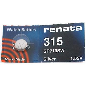 Renata Mercury Free Watch Battery 315 (SR716SW) - Pack of 10
