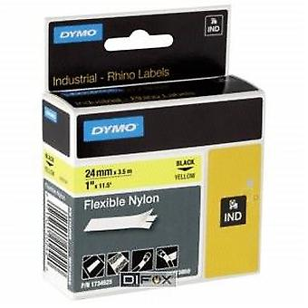 Dymo Rhino Black On Yellow Tape Nylon 19mm x 3.5M (Home , Office , Accessories)