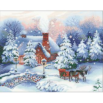 Christmas Eve Counted Cross Stitch Kit-17.75