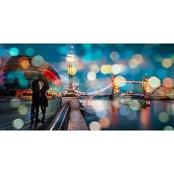 Baiser dans Londres Poster Print par Dianne Loumer