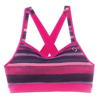 Bewegende comfort sport BH omhooggaan Kruis terug roze - 300614-653