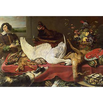 Frans Snyders - Still life with a Swan Poster Print Giclee
